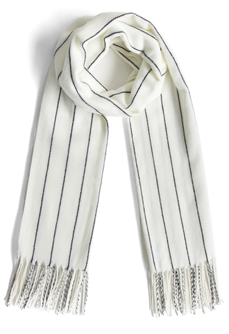 scarf classy striped scarf in white chicwish white stripes