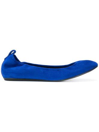 women flats leather blue shoes