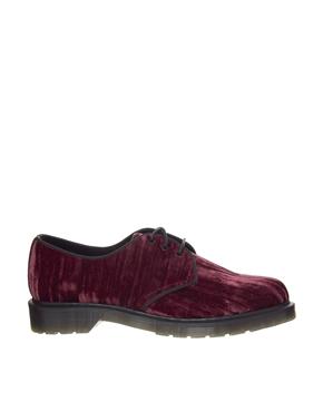 Dr Martens | Красные бархатные туфли на плоской подошве Dr Martens Hugh на ASOS