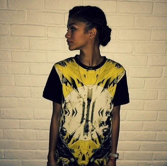 shirt yellow zendaya swagg t shirt t-shirt
