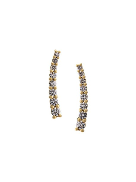 Alinka women earrings gold yellow grey metallic jewels
