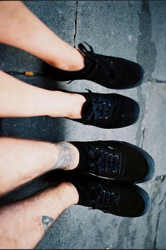 shoes black black shoes grunge black shoes flat