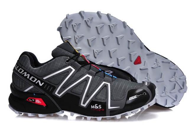 Mens Salomon Speedcross 3 Outdoor Athletic Running Sports Shoe black grey silver