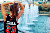 shirt,top,jordan,23,number,sportswear,black,red,basket,jersey,sporty,outfit,clothes,boy,sleeveless,basketball,tank top,white,swag,hipster,basketball t-shirt,classic,t-shirt,jordan #23 jersey