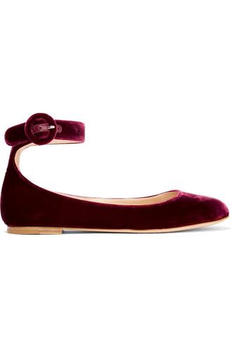 ballet flats ballet flats velvet shoes
