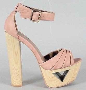 shoes high heels cut-out heel