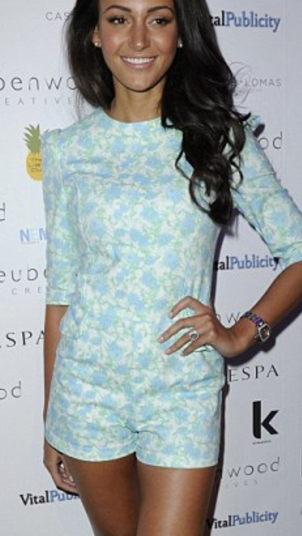 shorts michelle keegan floral romper dress