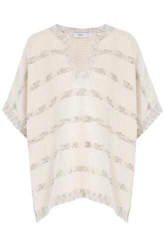 cape cotton beige top