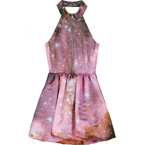 Christopher kane outer space motif mini dress