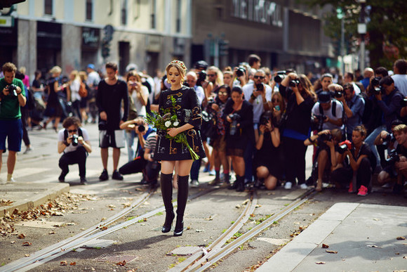 kayture blogger bag jewels flower crown dolce and gabbana vintage thigh high boots