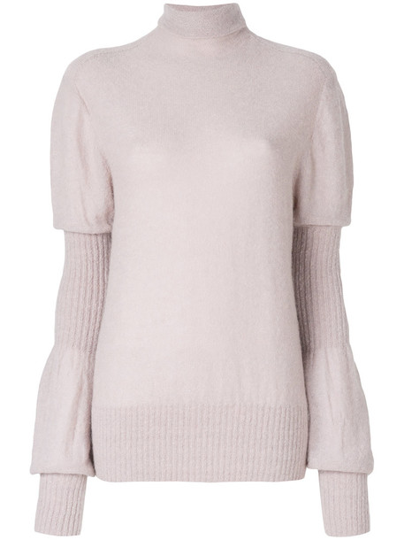 jumper women mohair purple pink sweater