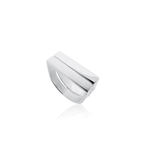 Silver Runway Ring - Brushed or Polished | MAYA MAGAL