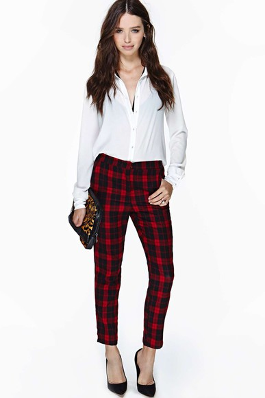 nastygal pants asos Choies plaid paints grid