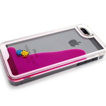 Nine States 3D Fantastic Plastic Fish Couple Swimming Hard Case for Apple iPhone 5 5s Color Varies (Plum) on Wanelo