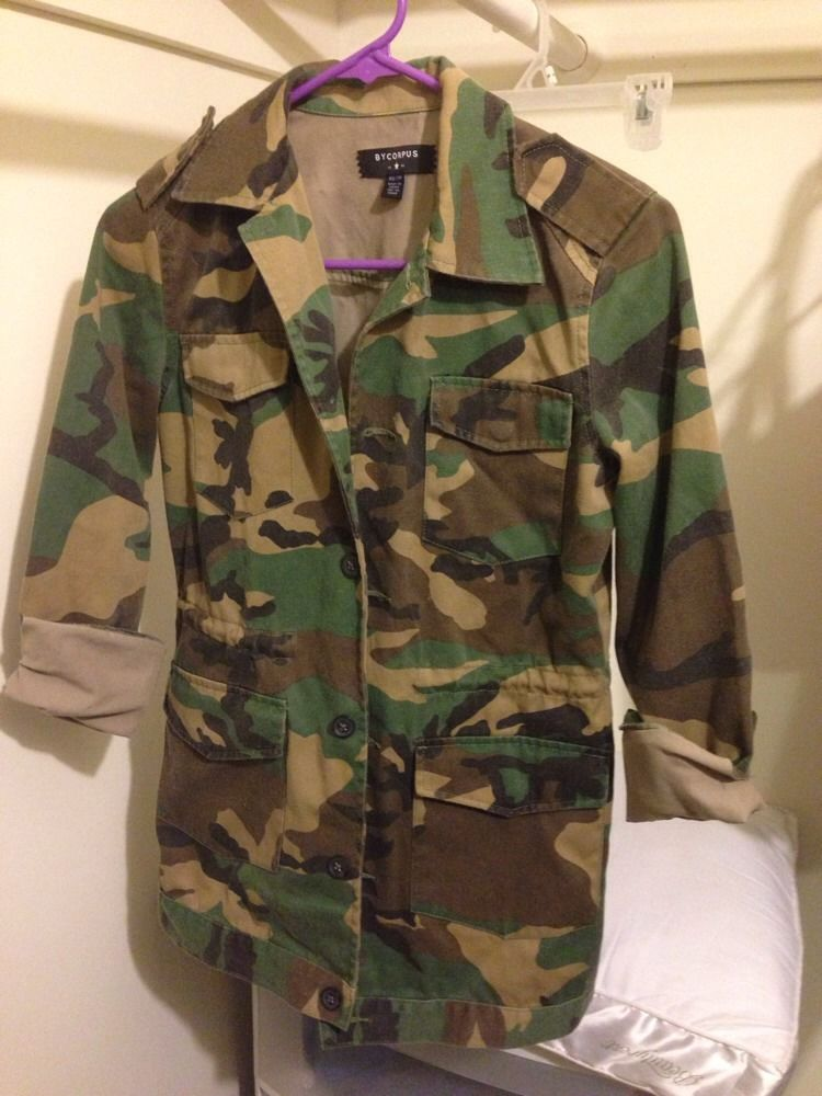 Urban Outfitters Bycorpus Military Camo Jacket Cinch Waist Size XS | eBay