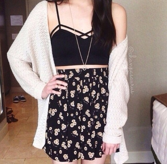 jacket sweater black tank top skirt blouse dress jewels
