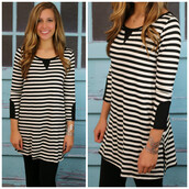 dress,amazinglace.com,amazinglace,black and white,stripes,three-quarter sleeves
