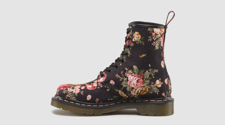 Martens 1460 womens black victorian flowers doc martens boots and dr martens 1460 womens black victorian flowers doc martens boots and shoes mightylinksfo Image collections