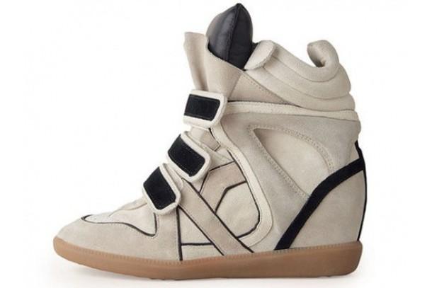 sneakers isabel marant gray black wedges