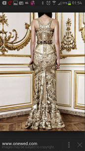 gold sequins,gown