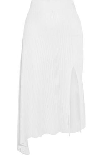 skirt midi skirt knit midi white