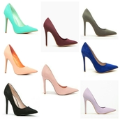 shoes,high heels,pumps,classic,pointed toe pumps,sexy,faux suede,nubuck,turquoise,blue,burgundy,black,pink,grey,cute high heels,casual,stilettos
