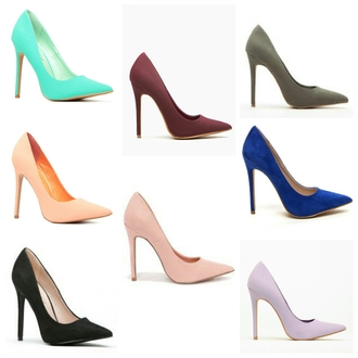 shoes high heels pumps classic pointed toe pumps sexy faux suede nubuck turquoise blue burgundy black pink grey cute high heels casual stilettos
