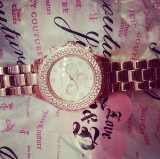 jewels watch juicy couture rose gold rime stones juicy couture bracelet