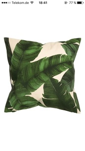 home accessory,pillow,green,palm