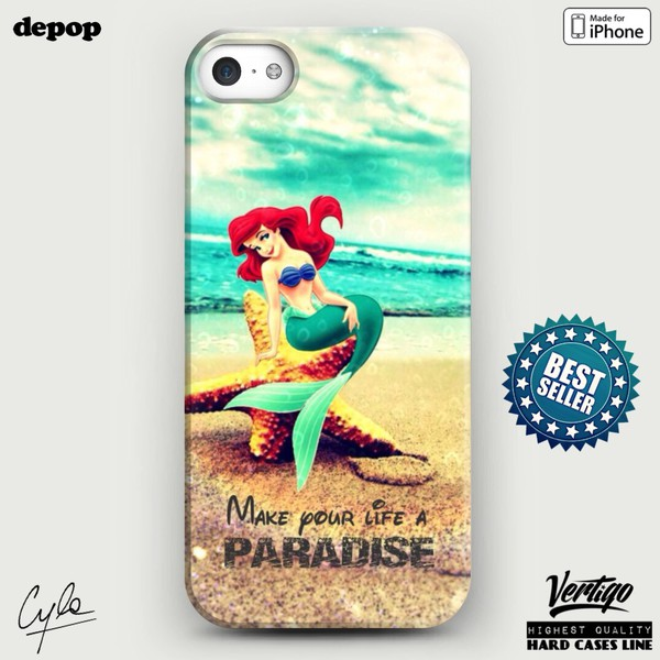 jewels disney the little mermaid fashion iphone case girly