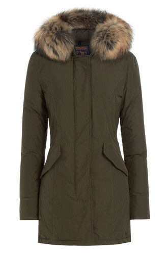 parka fur luxury green coat