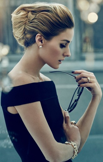 dress olivia palermo black dress off the shoulder blogger sunglasses