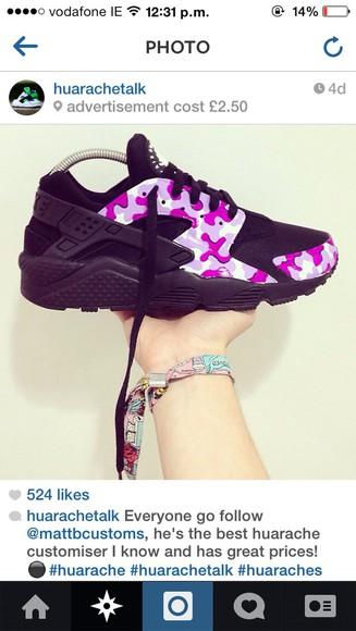 pink shoes black shoes nike airmax huaraches nike air black nike airmax thea nike huaraches