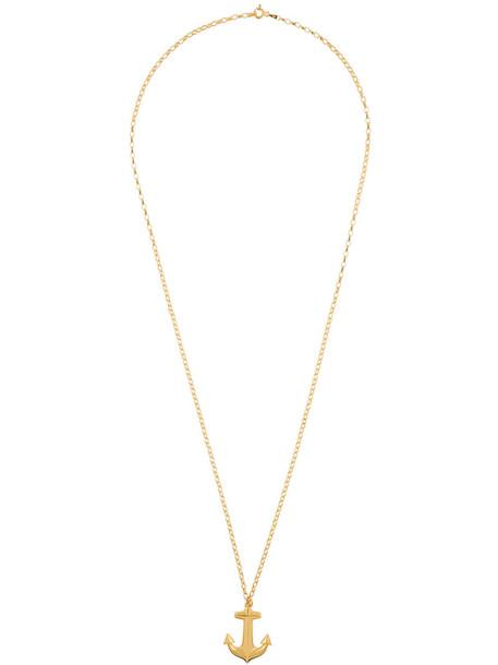 True Rocks anchor women necklace gold grey metallic jewels