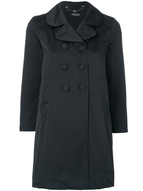 Twin-Set coat double breasted cropped women black