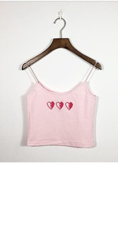 top,heart,girly,girly wishlist,pink,crop tops,cropped,crop