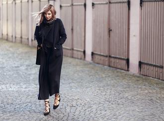 bekleidet blogger pants scarf bag sunglasses coat shoes