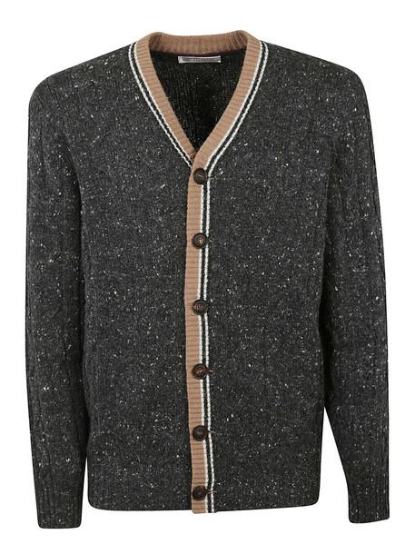 Brunello Cucinelli Fitted Cardigan in grey