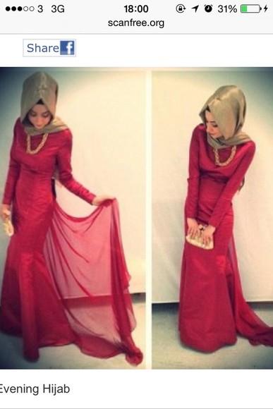 maxi dress long sleeve dress red dress