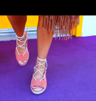 shoes gabi demartino gabriella demartino niki and gabi lace up sandals pink flats white