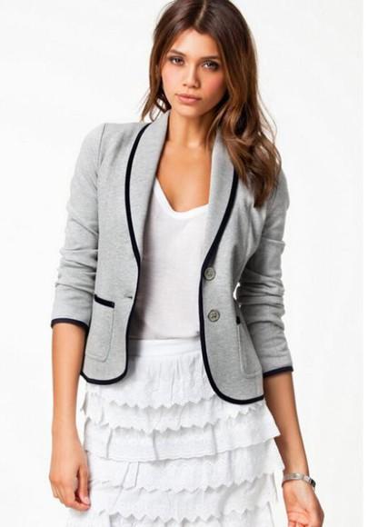 blazer coat suit suit jacket grey suit