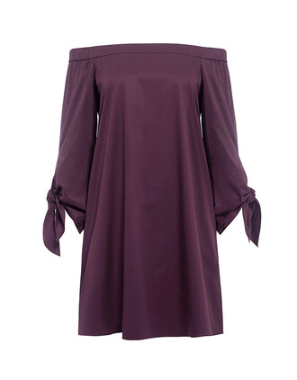 dress mini dress mini satin plum