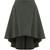 Asymmetric-hem cotton-canvas skirt