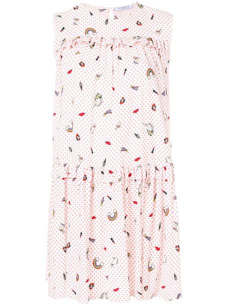 dress printed dress women spandex white