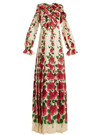 dress rose silk
