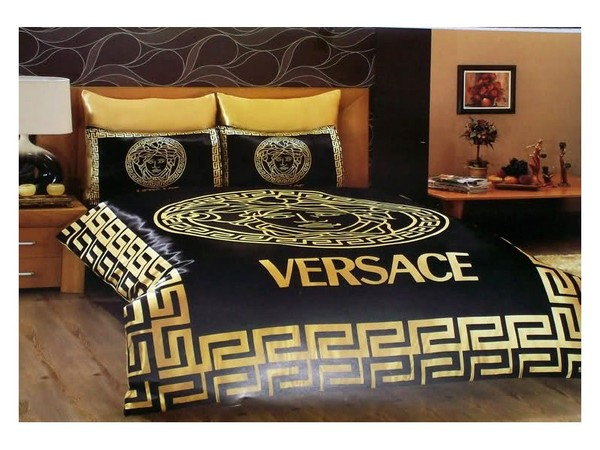 Versace Bedding Classic Bedding Set Black And Gold Duvet Satin Covers Medusa Ebay