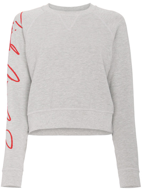 Re/Done - Cindy sweatshirt - women - Cotton/Polyester - L, Grey, Cotton/Polyester