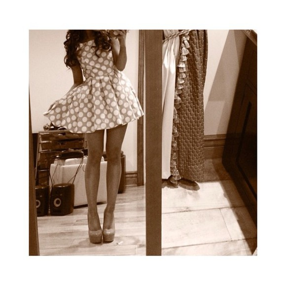 polka dots spots high heels ariana grande spotted dress dress shoes