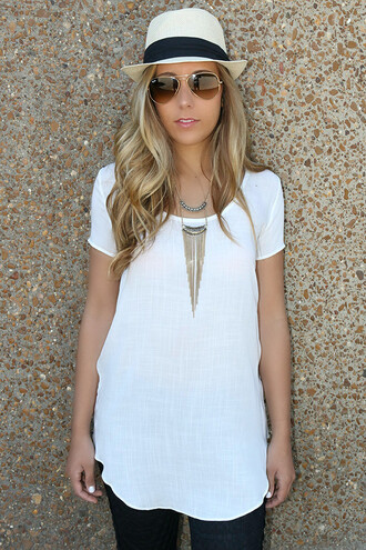 shirt scoop neck tee white ivory linen short sleeve summer amazinglace