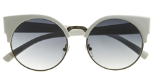 Vintage Round White Cat Eye Sunglasses 8785ZU